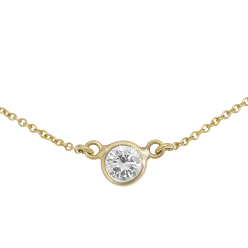 Tiffany & Co. 18K Yellow Gold Diamonds by the Yard Pendant